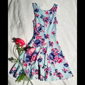 DIVIDED Floral Dress by H&M Sz 2